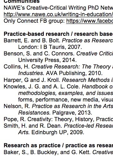 Creative Research bibliography