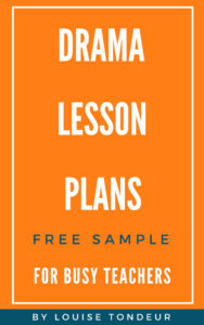Cover for Drama lessons book one SAMPLE