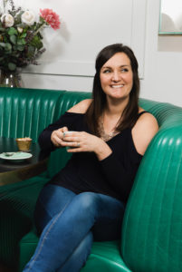 Charlotte Wibberley, Business Success Coach for VAs shot at Bronte, The Strand, London WC2. 21/2/17 Shot for PA Life Magazine.